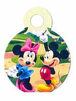 """Медали """"Микки Маус с Мини Маус"""". В упак: 10 шт. Диаметр: 55 мм."""