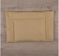 """Подушка """"Совенятко"""" Горох Поплин 40*60 см для новорожденного, кофейный"""