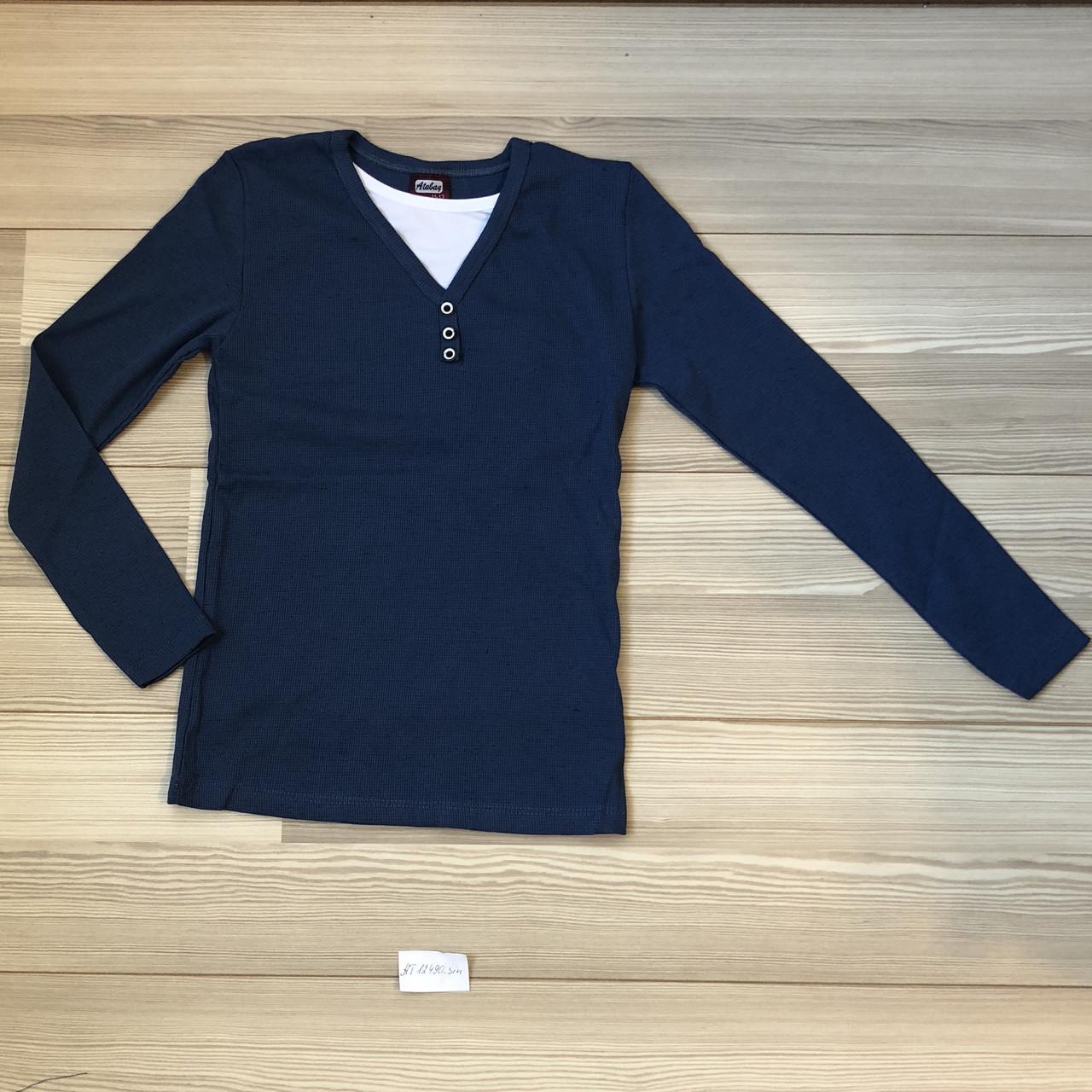 Кофта-пуловер  для мальчика ,синий , (4-7 лет),(8-11лет),