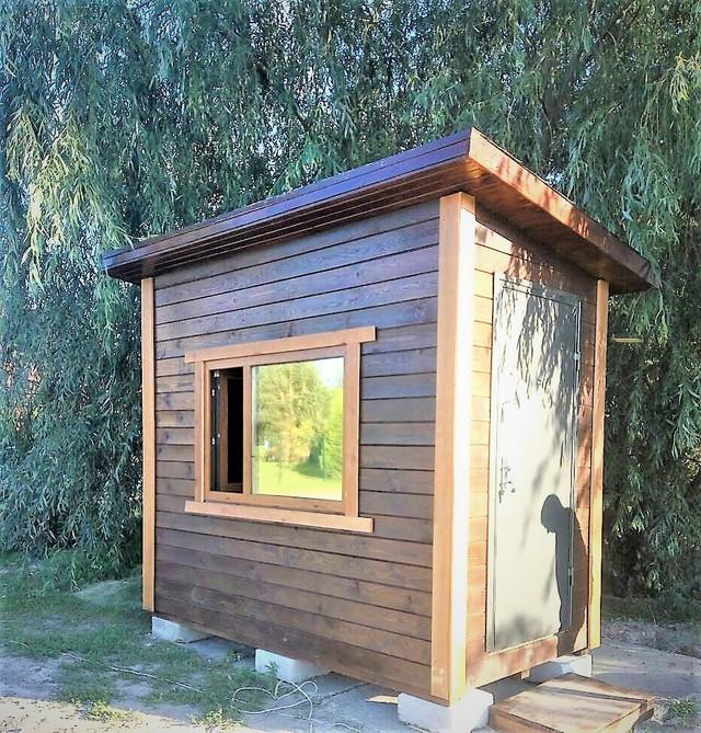 деревянный пост охраны