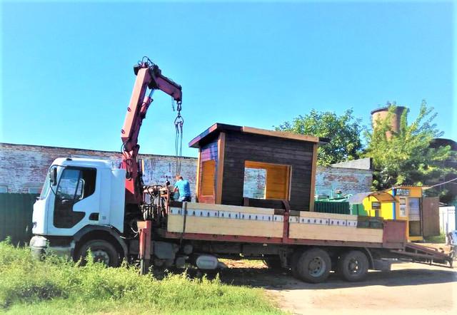 деревянный пост охраны доставка