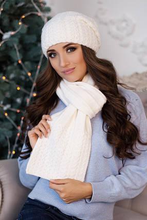 Комплект BRAXTON  «Коссандра» (шапка + шарф) 4456-10  белый, фото 2