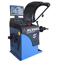 Балансировочный станок с автоматическим измерением, УЗ-сонаром и лазерным указателем ANDRMAX