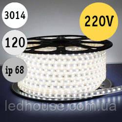 Светодиодная лента smd 3014/120 220В IP68