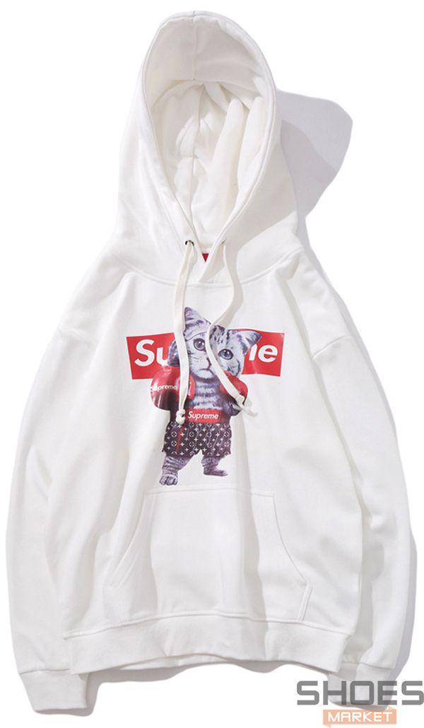 Худи Supreme White (ориг.бирка)