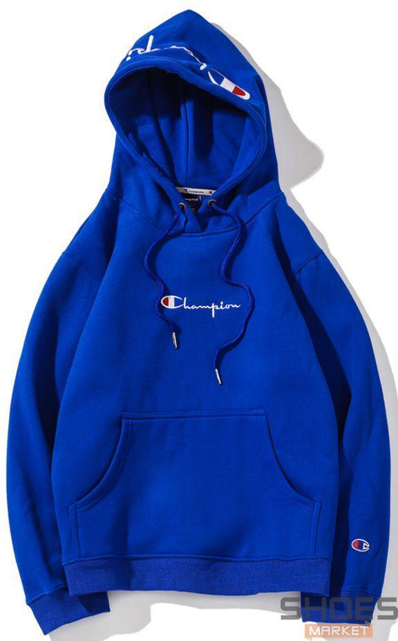 Худи Champion Blue (ориг.бирка)