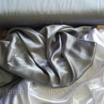 Ткань атлас для штор портьерная серого цвета