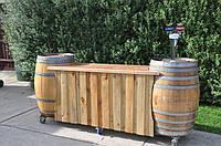 Деревянный стол - бар