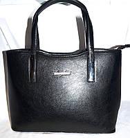 Женская черная сумка из искусственной кожи 31*24 см