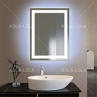 Зеркало с рисунком D1 подсветка по периметру на стену холодный свет