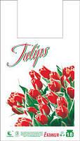 """Пакет майка с рисунком """"ЭКО Тюльпаны"""" 28х47 250шт."""