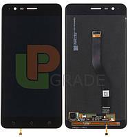 Дисплей для Asus ZenFone 3 Zoom (ZE553KL) + тачскрин, черный, Navy Black, с передней панелью