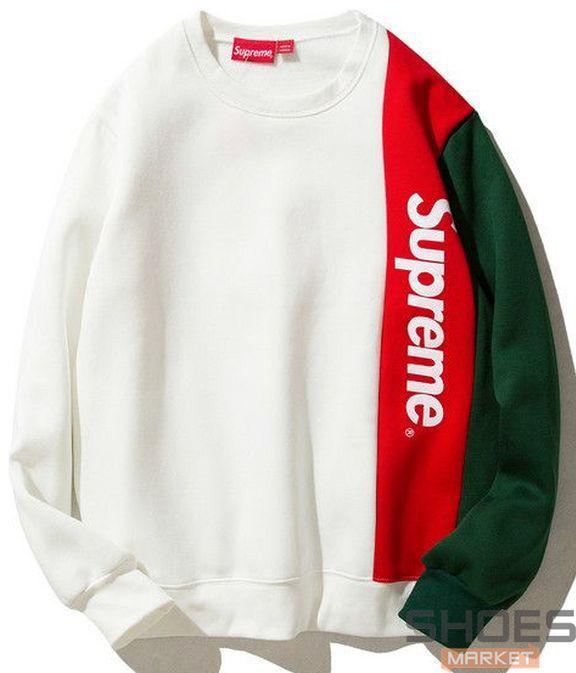 Свитшот Supreme White/Red/Green (ориг.бирка)