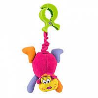 Вибрирующая игрушка-подвеска с зажимом Biba Toys ОБЕЗЬЯНКА