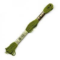 Мулине DMC (ДМС) арт.469,зеленый, нитки для вышивания 8м. Франция, Оригинал