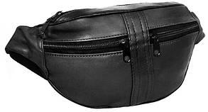 Поясная сумка из кожи Cavaldi 901-353 black черная
