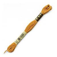 Мулине DMC (ДМС) арт.436,оранжевый, нитки для вышивания 8м. Франция, Оригинал