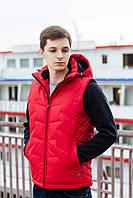 Жилетка мужская 813 чёрная, серая, красная, синяя, фото 1