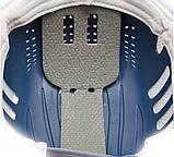 Каска-бейсболка ударопрочная со светоотражающей лентой (цвет жёлто-синяя), фото 3