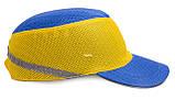 Каска-бейсболка ударопрочная со светоотражающей лентой (цвет сине-жёлтый), фото 2
