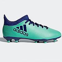93302edc Бутсы Adidas X 17.3 Childrens FG Football Boots AeroGreen/Ink - Оригинал