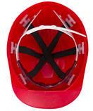 Каска строительная Украина (цвет красный), фото 2