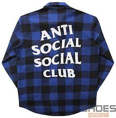 Рубашка Anti Social Social Club Blue (ориг.бирка)