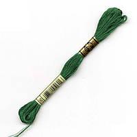 Мулине DMC (ДМС) арт.561,зеленый, нитки для вышивания 8м. Франция, Оригинал