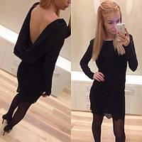 Женское гипюровое платье с открытой спиной, фото 1