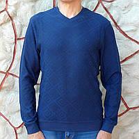 Лонгслив мужской синий с мысом Caporicco