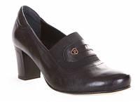 Туфли женские Лидер 2583.11, раз 36-41, чёрные кожаные