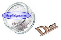 Металлические логотипы Dior (10штук)