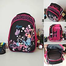 Стильний шкільний рюкзак для дівчаток Migini принт Метелики 39*29*16 см, фото 2