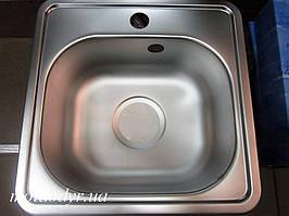 Мойка кухонная врезная из нержавеющей стали Kuchinox 381мм х 381мм х 150мм (декор)