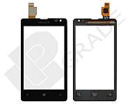 Тачскрин для Microsoft 435 Lumia Dual Sim/532 (RM-1069), черный