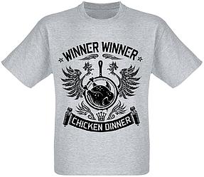 "Футболка PlayerUnknown's Battlegrounds ""PUBG"" - Winner Winner Chicken Dinner (меланж)"