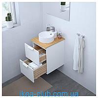 Умывальник керамический врезной/накладной IKEA GUTVIKEN
