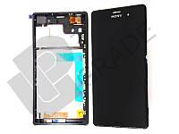Дисплей для Sony D6603 Xperia Z3/D6643/D6653 + тачскрин, черный, с передней панелью
