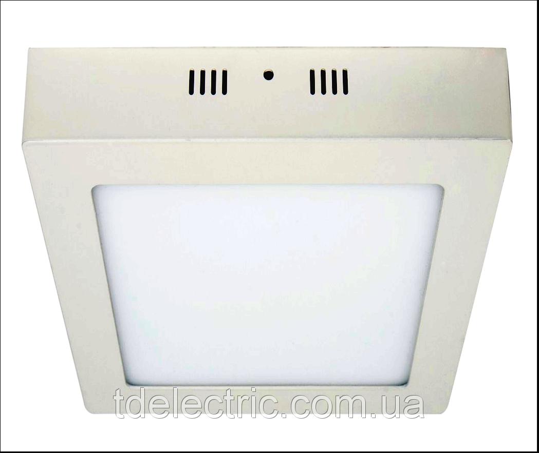 Накладная квадратная LED панель 6W 450LM 6400K / LM424