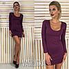Женское силуэтное трикотажное платье в расцветках. ВВ-6-0818, фото 3