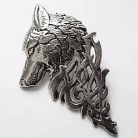 """Брошь """"Волк"""", размер 5.5х3.4  см. Материал: цинковый сплав., фото 1"""