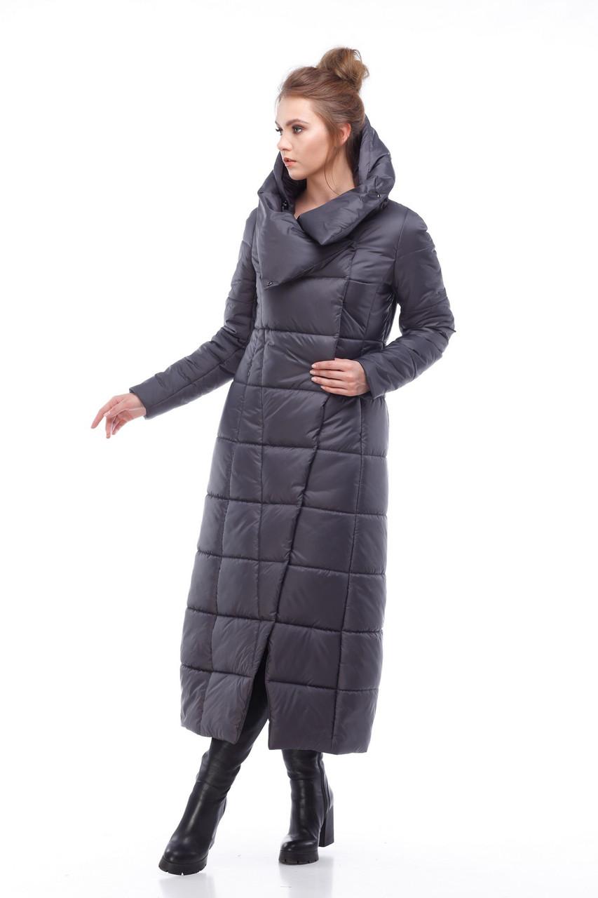 507492ece22c Купить женское зимнее макси пальто Комильфо,графит от украинского ...