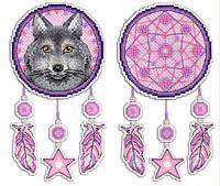 """Набор для вышивки на пластиковой канве """"М.П.Студия"""" Р-303 Ловец снов. Волк"""