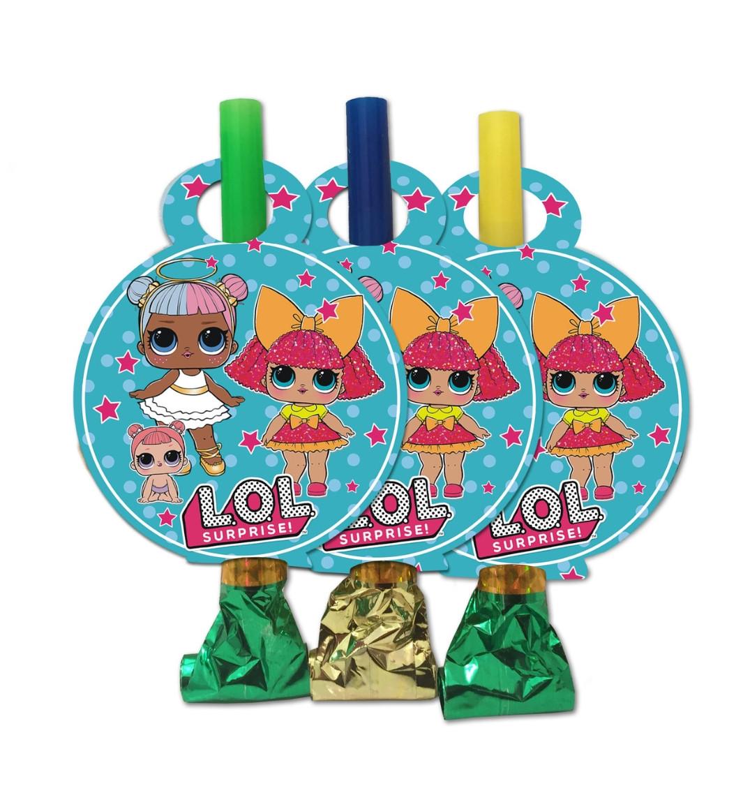Язичок гудок карнавальний ляльки лол 6 шт