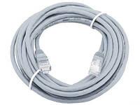 Патч-корд 30 м, UTP, Grey, Ritar, литой, RJ45, кат.5е, витая пара, сетевой кабель для интернета