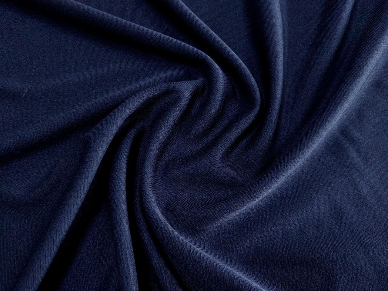 Трикотажная подкладка, темно-синий