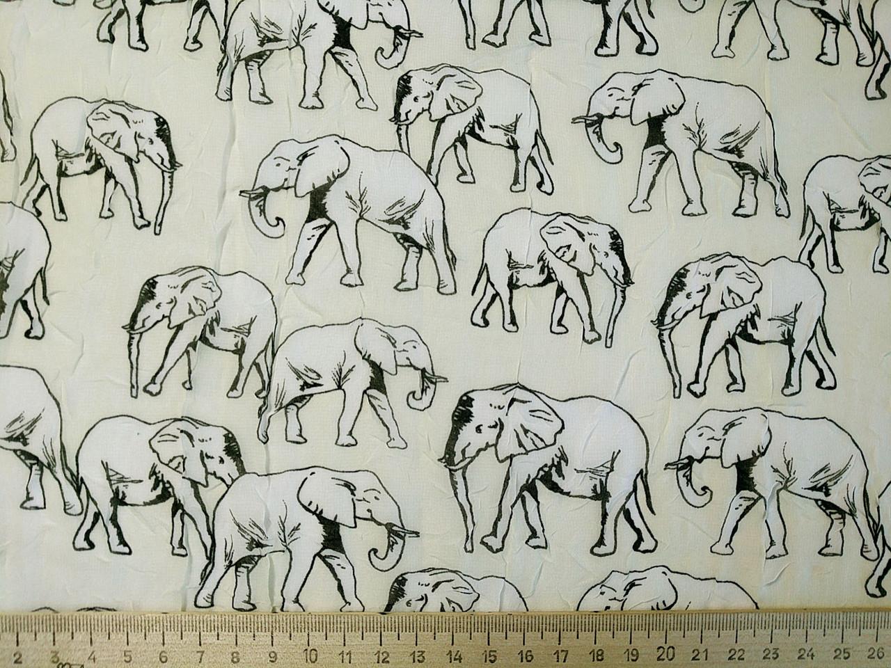 Шифон креш слоники