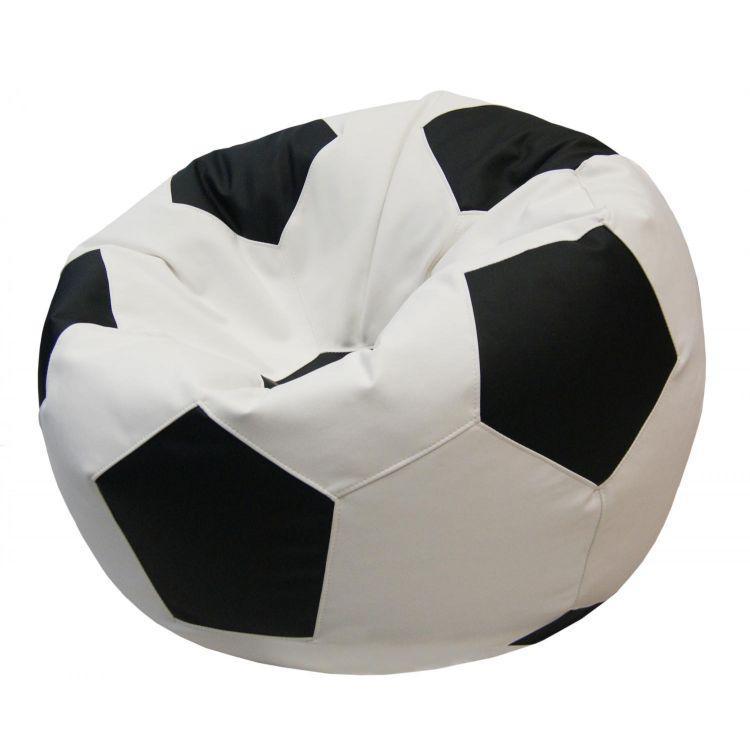 Кресло-мешок Мяч Хатка Бежевый с Черным