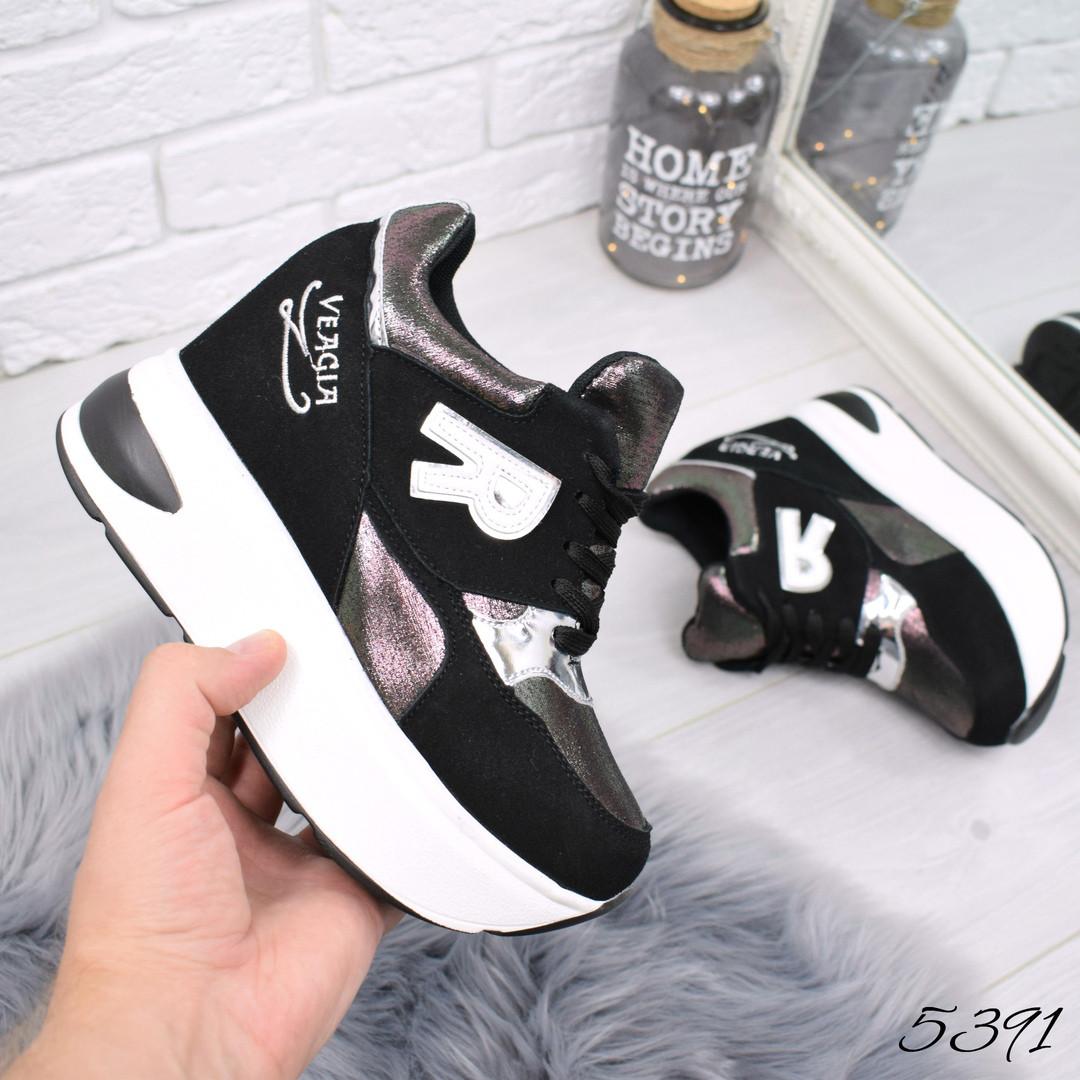 f23c88c2 Купить Кроссовок на платформе R чёрный + бронзу женскую обувь по ...