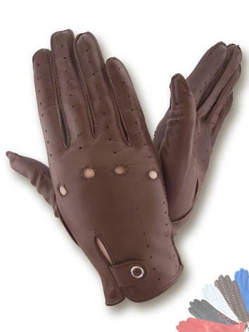 Авто перчатка женская  из натуральной кожи без подкладки модель 086, фото 2